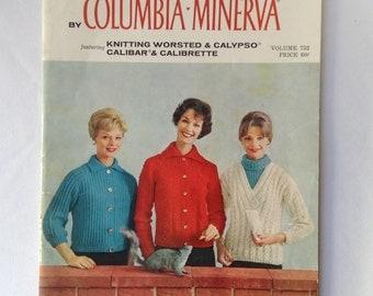 1960's Quick hand-Knits Columbia- Minerva Sweater Book volume 732