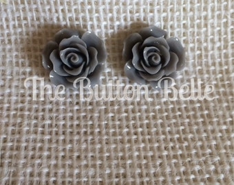 Rose To The Occasion Earrings (20mm Gray)