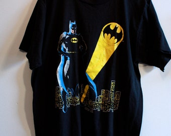50/50 Original Bat Man Movie T-Shirt ~ Size Extra Large