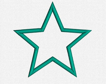 Star Applique Machine Embroidery Pattern Design Download 4x4 5x7 6x10 Basic Shapes