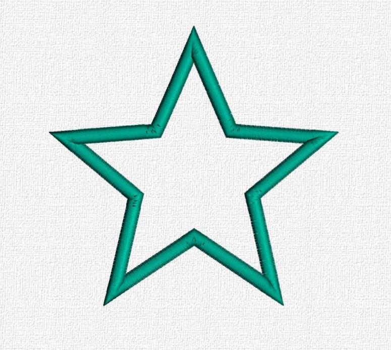 Star applique machine embroidery pattern design download