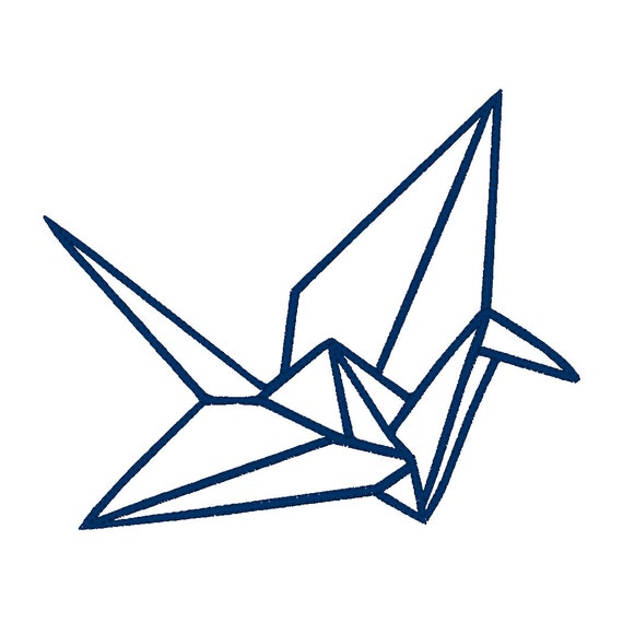 Origami crane applique embroidery design pattern for - Applique origami ...