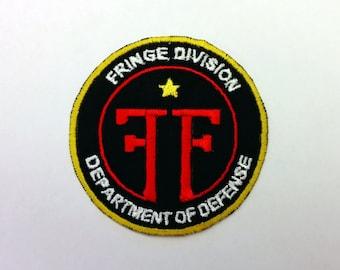 Fringe Division Shiny Metallic Embroidery Iron on patch. Fringe TV Show