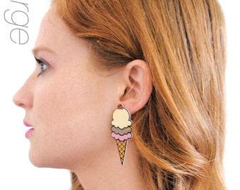 Triple Scoop Ice Cream Earrings