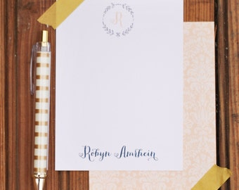 Monogram branch personalized stationery-FREE SHIPPING or DIY printable