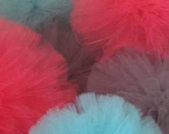 10 INCH Medium  Tulle pom poms set of 10 Party Decoration