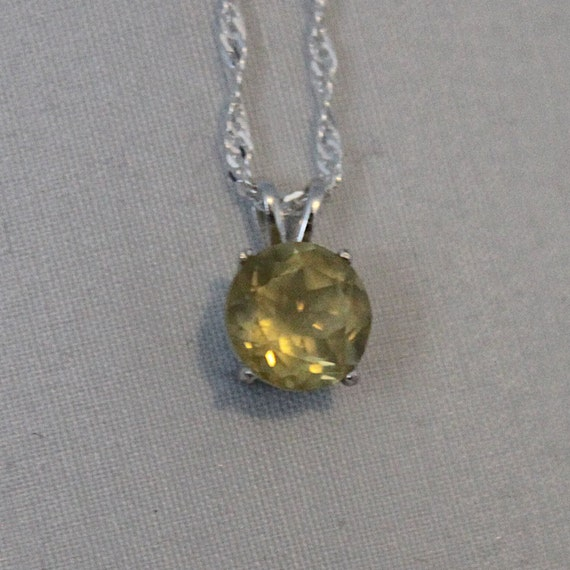 lemon quartz pendant silver quartz necklace by hiddenearthgems