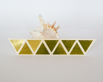 """1"""" gold sticker, triangle sticker, paper label, geometric letter envelope seal, self adhesive bag seal gift packaging"""