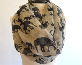 Elephant Infinity Scarf for Woman
