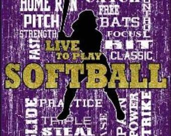 live to play softball tshirt sports tshirt softball t