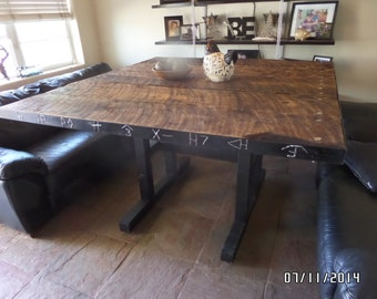 Popular items for barn wood tables on etsy for Western dining room tables