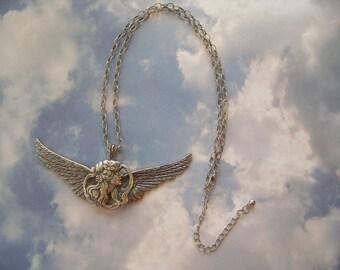 Art Nouveau Angel Pendant