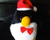 Vintage Plush 1980s Penguin By Russ