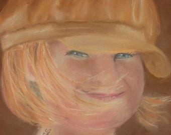 pastel painting,  custom portrait,  commission portrait, portrait painting,  head shot portrait,  pastel portrait - mothers day - birthday