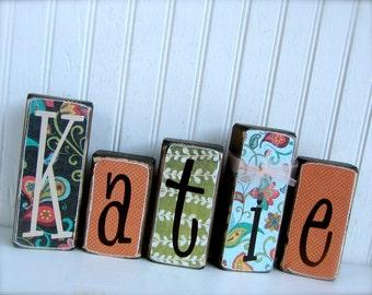 Personalized Name Blocks Nursery Decoration Kids Name Blocks Children Decoration Baby Shower Gift Baby Gift