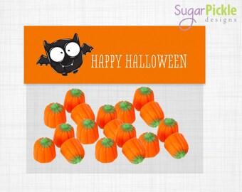 Halloween Goodie Bag Toppers, Goodie Bag Topper, Loot Bag Label, Halloween Printable, Halloween Treat Bag