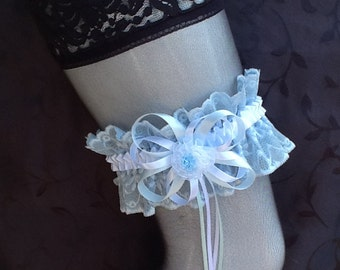 Garter blue lace No.19