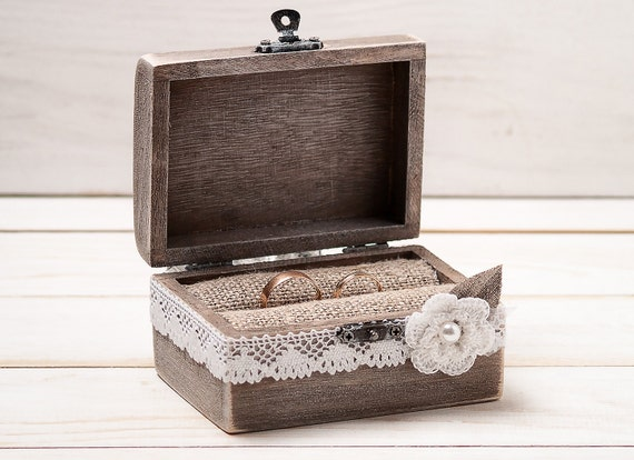 Ring bearer box wedding ring box custom by for Custom made ring box