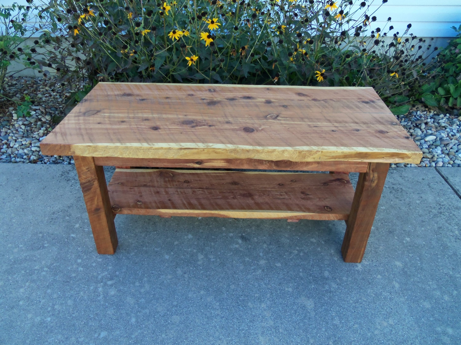 Red Cedar Coffee Table Rough Sawn Lumber By Smithborowoodworks