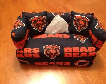 Chicago Bears Couch Sofa Tissue Box Cover