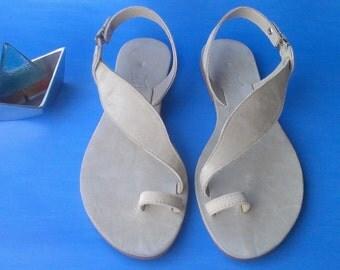 Handmade sandal,SUEDE sandal,ring toe sandals,greek sandals,women's sandal,handmade leather sandals