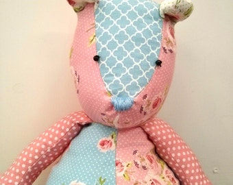 Patchwork Teddy Bear SEWING PATTERN