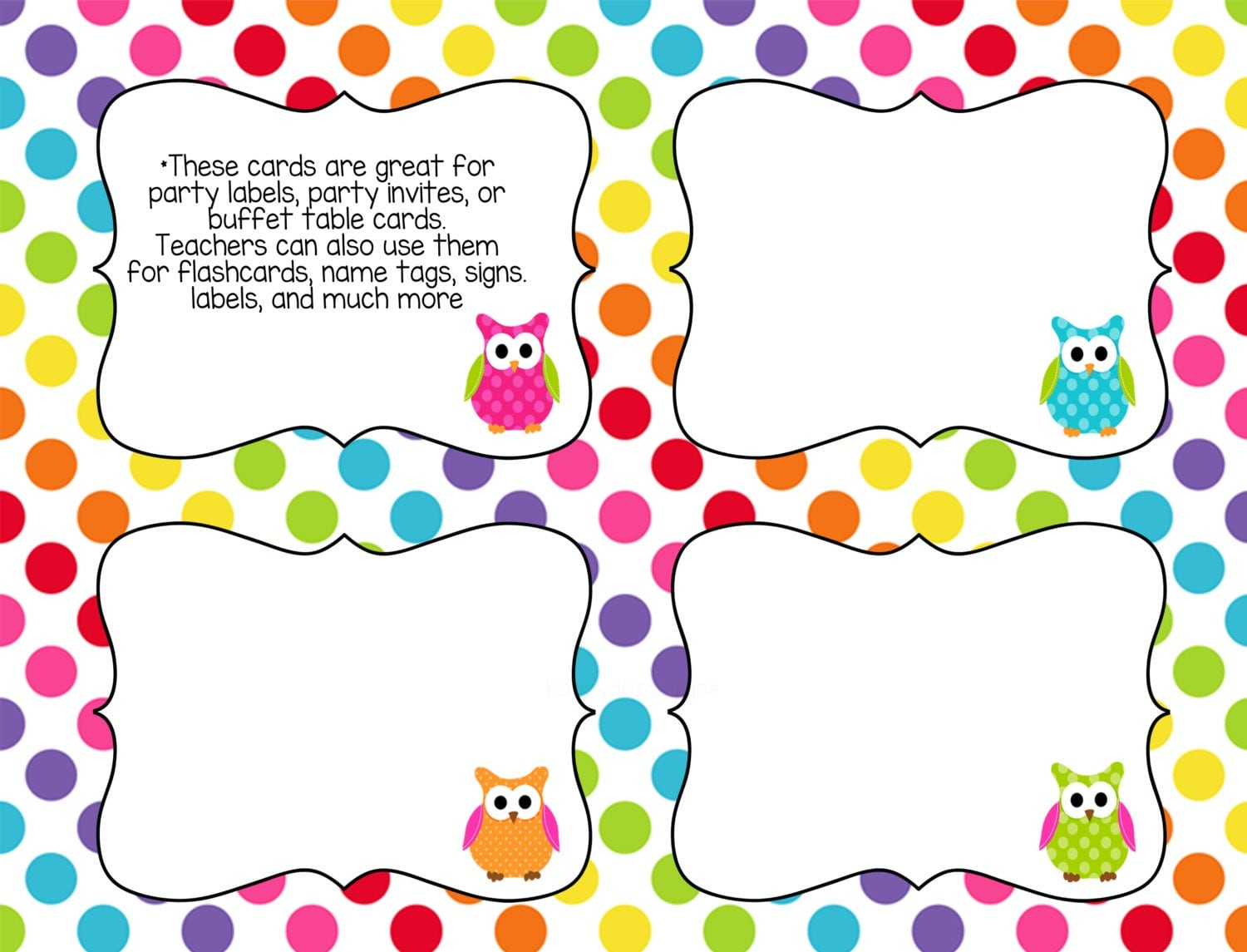Selective image pertaining to printable task cards