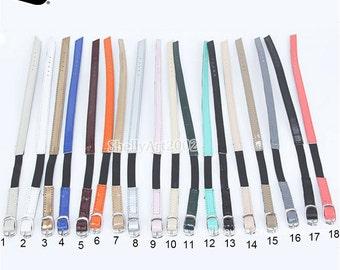 2 pairs/lot Leather Elastic Shoe Straps Adjustable Shoe Band Shoes Decor Accessories 18 Colors