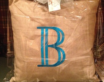 Boutique Monogram Pillow, Personal Monogram Pillow, Large Monogram Pillow