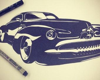 Custom Car Drawings