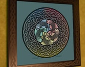 "12 x 12 - ""Fishnet"" Celtic print and frame"