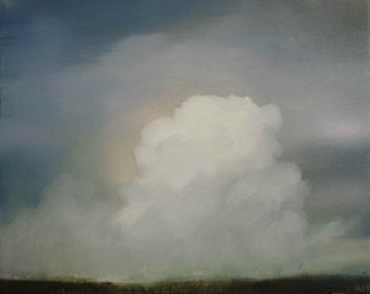 Small Oil Painting of Clouds