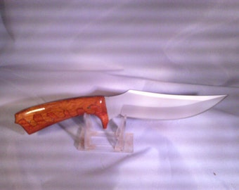 Armageddon Skinner Red Meranti and Chestnut Hunting Knife