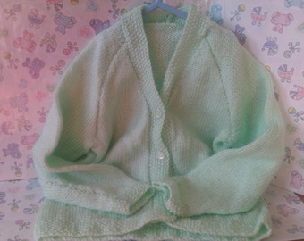 hand knitted childs cardigans