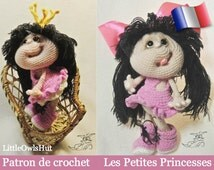 041F girls little Princesses! Amigurumi crochet pattern. PDF file. By Pertseva Etsy