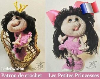 041F girls little Princesses! Amigurumi crochet pattern. PDF file. By Pertseva Etsy