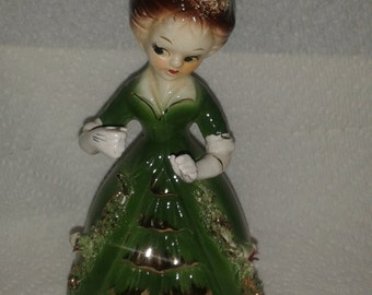 Vintage Arnart (Giftcraft) Doll - Dark Green Dress