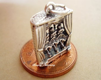 Can Can Girl Dancers Moving Legs Sterling Silver Charm Charms