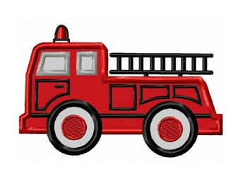 Fire Truck...Instant Download...Applique Machine Embroidery DESIGN NO. 70