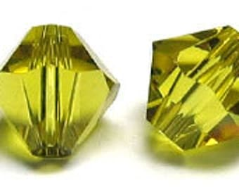 Swarovski 4mm Bicone - Lime - Pack 20