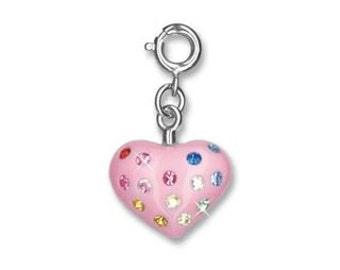 CHARM IT - Charms - Pink Heart - Crystals