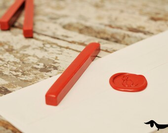Bright red sealing wax bar