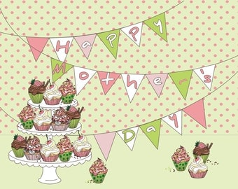 Mother's day clip art/ mother's day cup cake/banners clip art/birthday clip art
