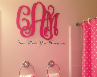 28 Inch Wooden wall Monograms, Home Decor, Office Decor, Weddings