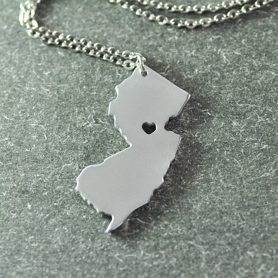 free shipping i new jersey necklace new jersey