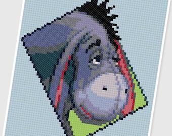 PDF Cross Stitch pattern - 0238.Eeyore ( Winnie the Pooh ) - INSTANT DOWNLOAD