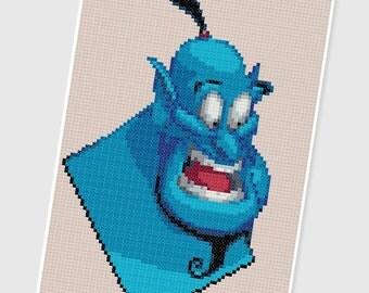 PDF Cross Stitch pattern - 0239.Genie (Aladdin) - INSTANT DOWNLOAD