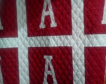 University of Alabama quilt football bedding auburn school quilt