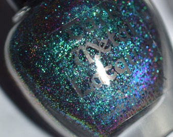 Turn Loose the Mermaids - Green to purple shifting glitter indie nail polish (12ml)