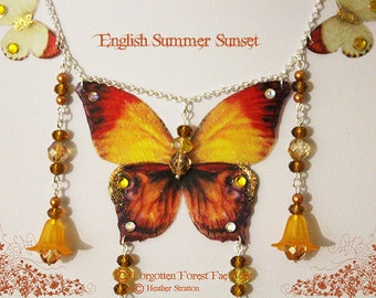 English Summer Sunset necklace